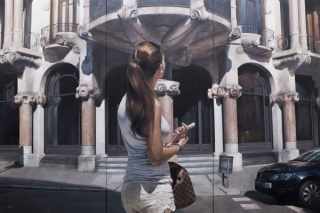 Silence,silence, oil on canvas 100x150cm triptic
