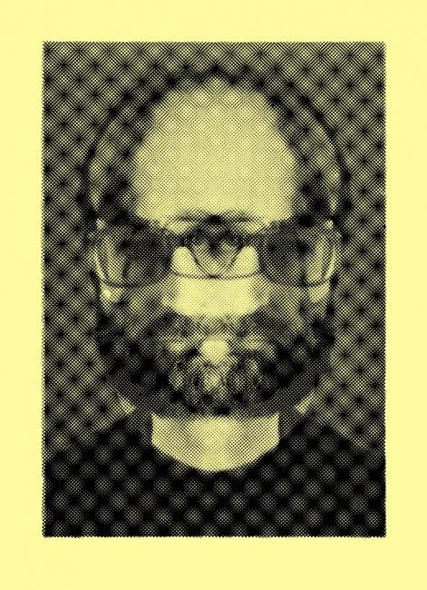 Luis Gordillo, Autorretrato óptico, 1974-2015 — Cortesía de la Galería Aural