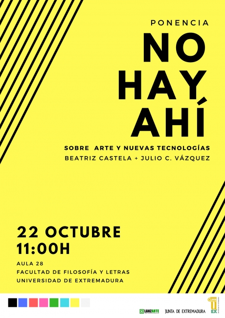 Conferencia - Beatriz Castela - Julio C Vázquez - No hay Ahí - Uex