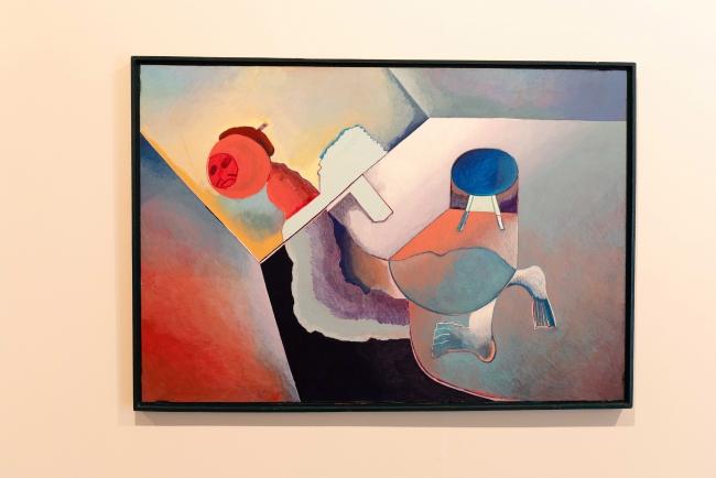 Luis Gordillo, 'Figura reclinada con falsa perspectiva' — Cortesía de la Fundación Chirivella Soriano