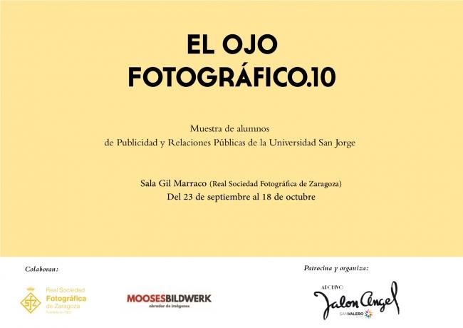 """Cartel Exposición """"El Ojo Fotográfico.10"""""""