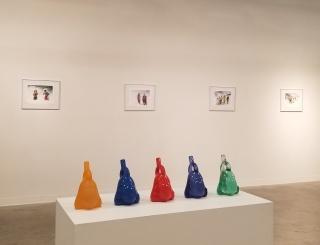 """Vista de la exposición """"Estéticas Migratorias"""""""