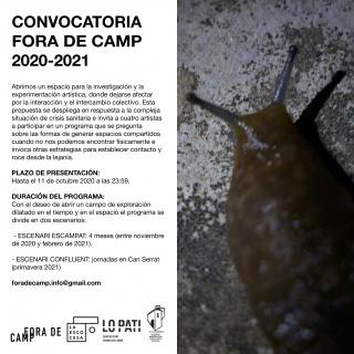 Convocatoria Fora de Camp 2020-2021