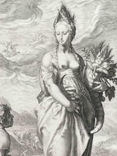 J. Saenredam, Ceres. 1596 — Cortesía del Centre Cultural Terrassa