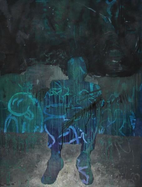 José Carlos Naranjo, Sweet Home. 130 x 97 cm. Óleo sobre lino. 2014