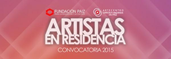 Artistas en Residencia 2015 ArteCentro