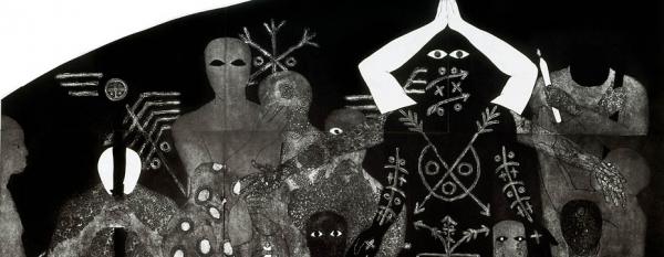 Belkis Ayón, Nlloro (1991). Collograph, 215 x 300 cm. Courtesy the Collection of the Belkis Ayón Estate