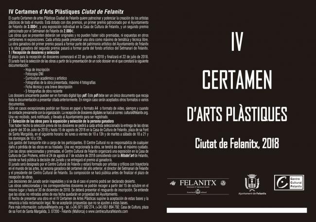 IV Certamen d'Arts Plàstiques Ciutat de Felanitx 2018