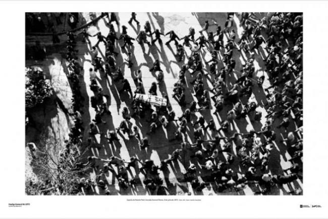 Sepelio de Ramón Peré. Avenida General Rivera. 8 de julio de 1973. (Foto: 122– Autor: Aurelio González).