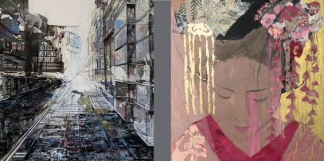 Mirian Herráez y Aurora M. Leube — Cortesía de Montsequi Galería de Arte