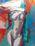 THE MOMENT 1400€ 130x100 cm  oil canvas  2019