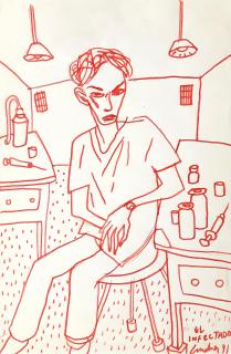 Lux Lindner. El infectado, 1991 — Cortesía de MERIDIANO | Cámara Argentina de Galerías de Arte