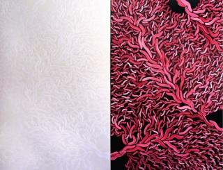 Pulsions 1, óleo y esmalte sobre tela, 150 x 200 cm, 2013