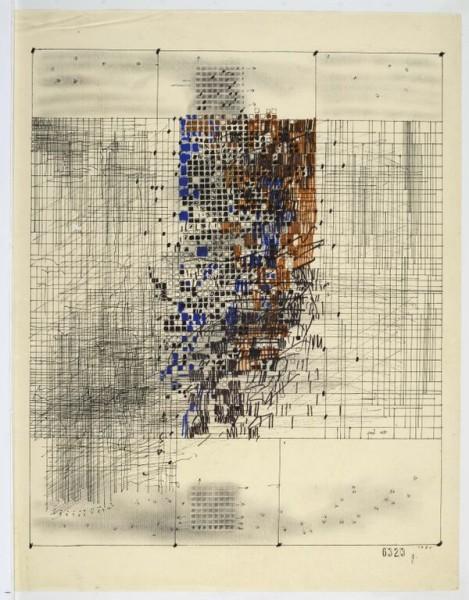 Gustavo Pérez Monzón. Sin título, 1980. Técnica mixta sobre papel. Cortesía CIFO
