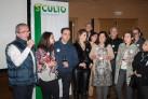 Josemaría Esteban Ibáñez, Director de Comunicacioón de SCULTO, agradece, en presencia de la alcaldesa de Logroño, Cuca Gamarra, el apoyo internacinal de la Sculpture Network a la Feria SCULTO.