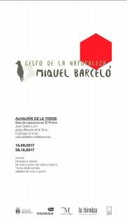 Miquel Barceló. Gesto de la Naturaleza
