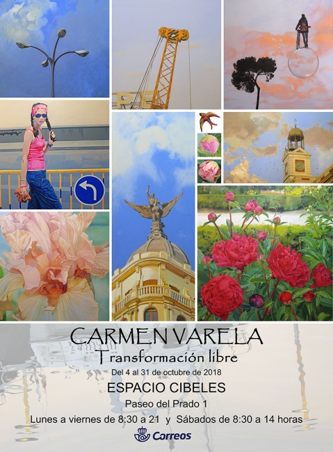Cartel exposición Sala Cibeles. Carmen Varela