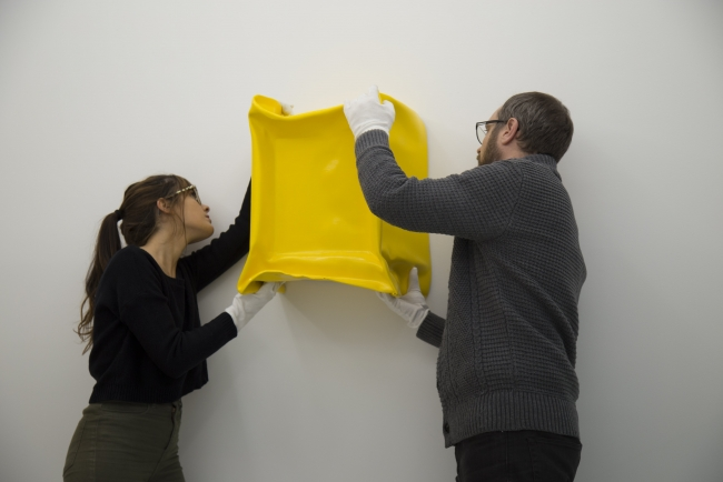Angela de la Cruz, Recycled (Untitled Yellow)