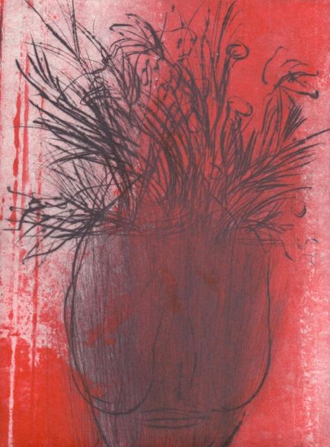 linhas de sangue, gravura em metal, 2018