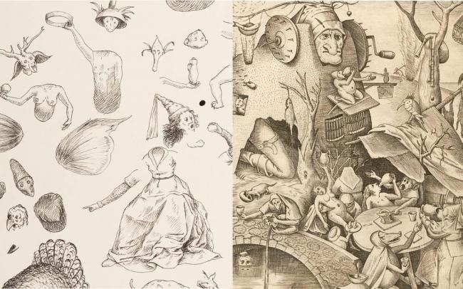 Envidia, ANTOINE ROEGIERS - Gula, BRUEGHEL EL VIEJO — Cortesía de San Telmo Museoa