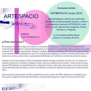 Concurso Artespacio Joven 2015