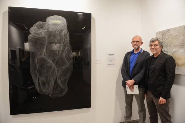 Obra ganadora del artista Adrián Espinós con Harold Berg y Joaquin Diez-Cascón