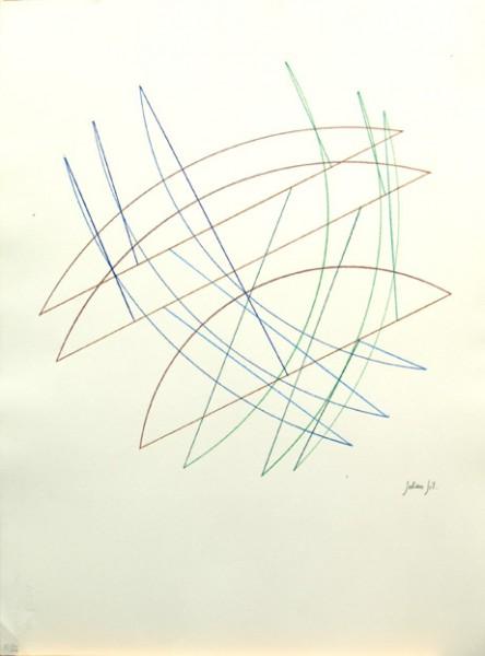 Julián Gil, S/T Año: 2000/2008 Técnica: Lápiz grafito y Lápiz color. Dimensiones:76x56 cm.
