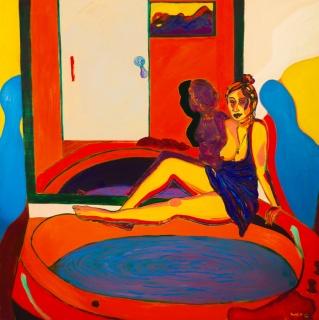 Retrato en el Hotel Aristo - óleo sobre tela - 160 x 160 cm - 2014