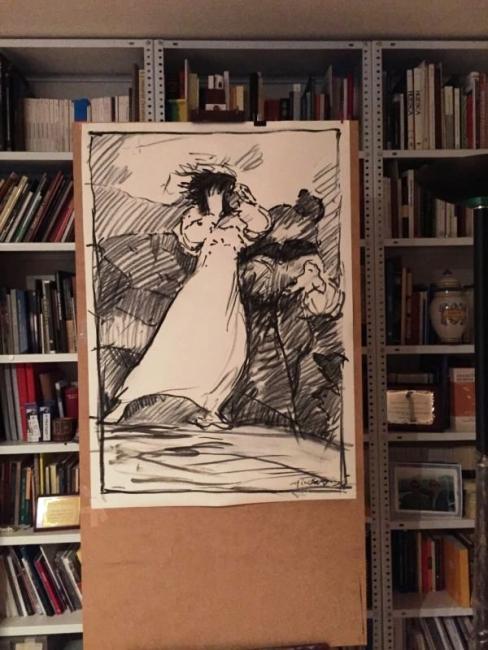 Fernando Alvira. De Goya — Cortesía del Museo de Dibujo Julio Gavín - Castillo de Larrés