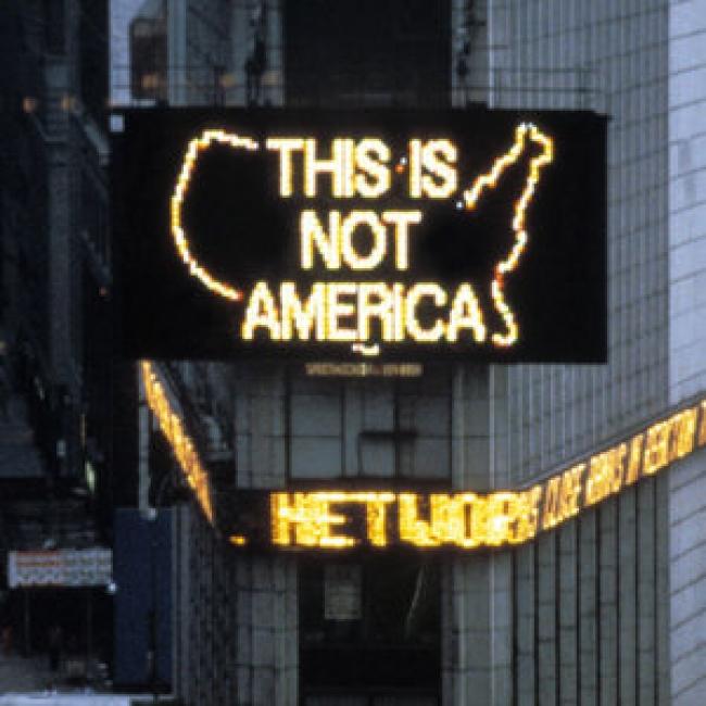 'A Logo for America' by Alfredo Jaar