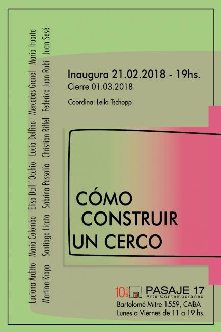 Afiche Como construir un cerco II