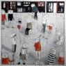 CONSTANTES VITALES 150 x 150 cm., mixta sobre lienzo de Begmont
