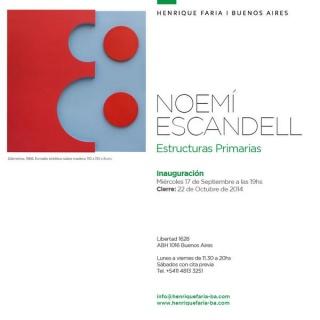 Noemí Escandell, Estructuras primarias
