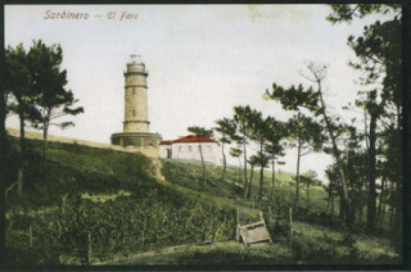 Römmler&Jonas. Sardinero. El Faro, 1912. Colección Alfonso Díaz Grande