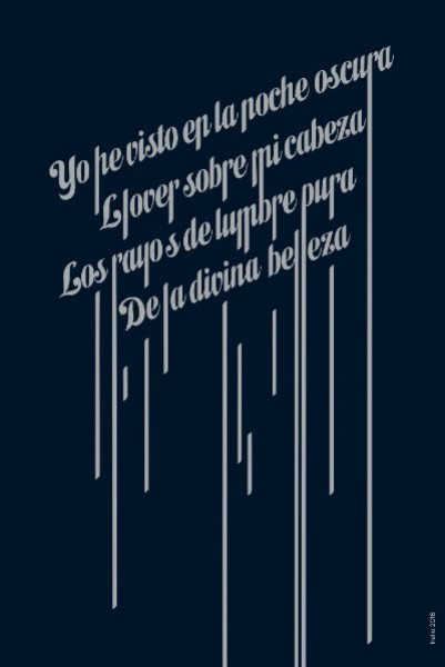 Yo he visto en la noche oscura / I have seen through Dead of Night  Diseño/ Design : Irelio Alonso 2016