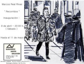 Marcos Real Rivas, Recorridos