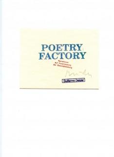 Guillermo Deisler. Found Poetry