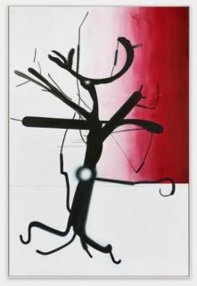 Albert Oehlen, Sin título (Árbol 1), 2013. Óleo sobre Dibond, 378 x 250 cm. Colección particular, cortesía de la Galerie Max Hetzler, Berlín/París © Albert Oehlen. Foto: def image