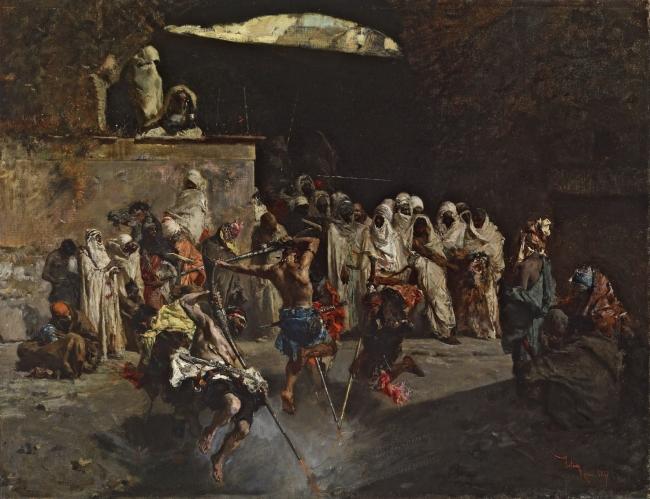 Fantasía árabe Mariano Fortuny Óleo sobre tela, 52 x 67 cm 1867 The Walters Art Museum, Baltimore, Maryland, 37.191 – Cortesía del Museo del Prado
