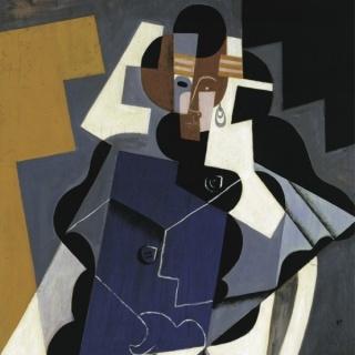 Juan Gris, Mujer sentada, 1917 (detalle), óleo sobre tabla, 116 x 73 cm Colección Carmen Thyssen-Bornemisza en depósito en el Museo Thyssen-Bornemisza