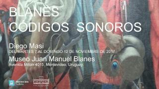 Diego Masi, Blanes / Códigos Sonoros. Instalación Sonora, 200x400x100 cm., 2017 – Cortesía del Museo Juan Manuel Blanes