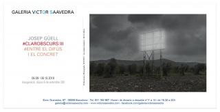 Josep Güell. #Clarobscurs III. #Entre el difus i el concret