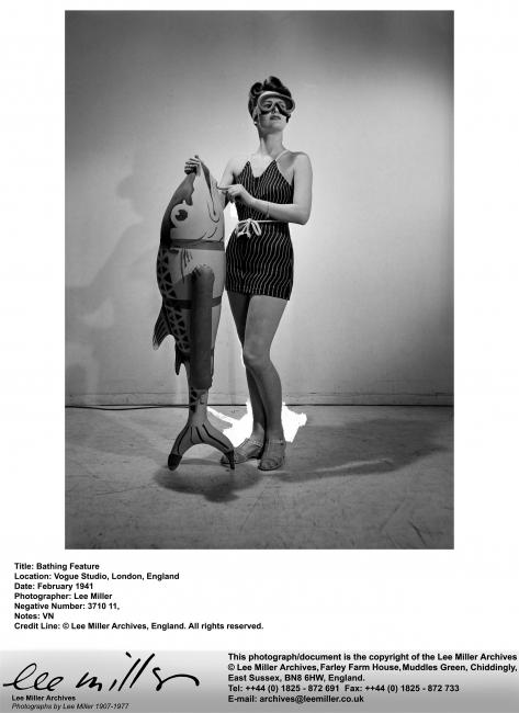 LM,Bathing Feature, Vogue Studio, London, England, 1941, VN,'3710-11' — Cortesía de Fundació Joan Miró