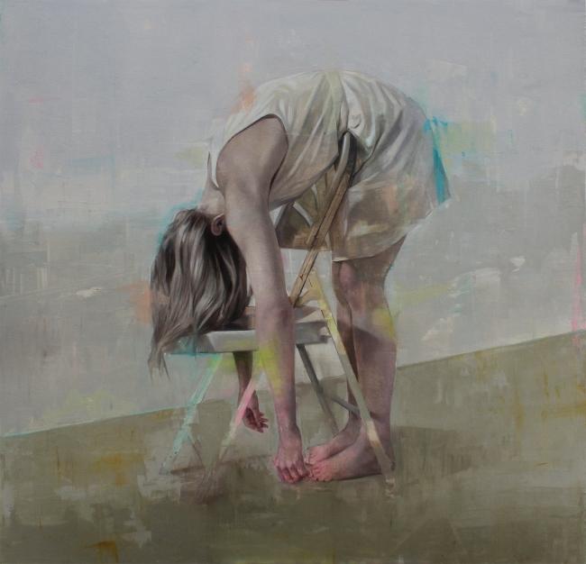 Johan Barrios, untitled, 2018, oil on canvas, 163x167 cm. — Cortesía de Victor Lope Arte Contemporáneo