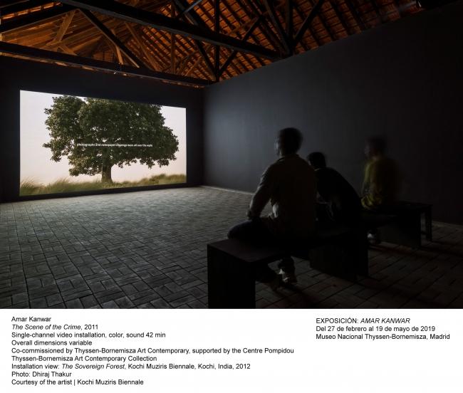 Amar Kanwar, La escena del crimen, 2011. Fotografía: Cortesía del artista | Kochi Muziris Biennale — Cortesía del Museo Nacional Thyssen-Bornemisza