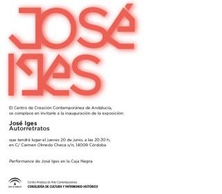 José Iges. Autorretratos - Invitación