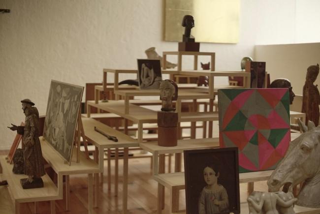 Installation view (studio). Photo: Pablo Delgado and Sarasvati Herrera