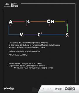 Cartel Archivxs GLBTIQ+