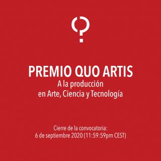Premio Quo Artis a la producción en Arte, Ciencia y Tecnología - 2020