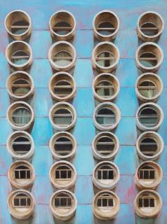 Neus Martín Royo, Geometry, 81 x 60 cm. — Cortesía de la Galeria Jordi Barnadas